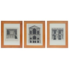 Set of Three Early 19th Century Architectural Prints by Louis-Pierre Baltard de
