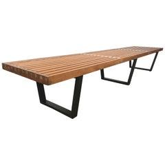 Large George Nelson Slat Bench for Herman Miller