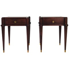 Superb French Solid Mahogany Bedside Tables