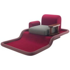 """Ettore Sottsass """"Tappeto Volante"""" Armchair for Bedding, Italy, 1974"""