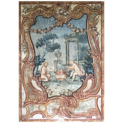 "Large 18th Century ""Toile Peinte"" Tapestry"