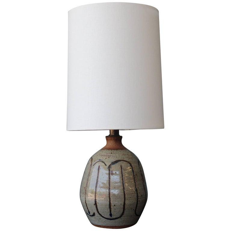 Vintage Ceramic Glazed Lamp, 1960s