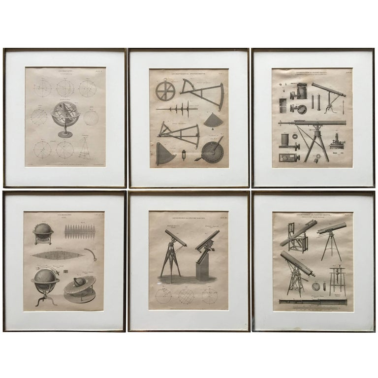 Set of Six Astronomy Prints, English 19th Century