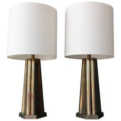 Pair of Brass Table Lamps, 1970s