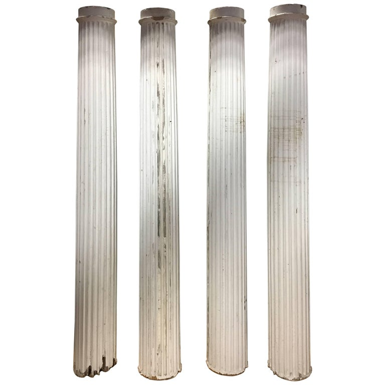 Set of Fluted Architectural Columns, 19th Century