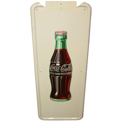 1954 Vintage Coca Cola Vertical Tin Self Framed Pillar Sign