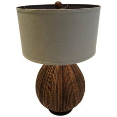 Chic Mid-Century Modern Rattan Table Lamp by Palecek