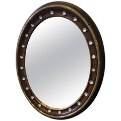 19th Century Irish Regency Mahogany Oval Mirror