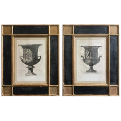 Set of Two Copper Plate Vase Engravings, Giovanni Battista Piranesi, circa 1821