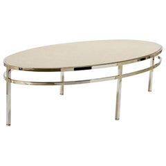 Saratoga Coffee Table with Natural Stone Top by Powell & Bonnell