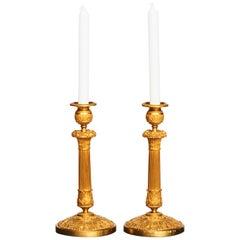 Pair of Charles X Ormolu Candlesticks, circa 1820s