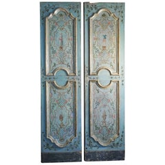 Pair of Painted Doors and Surrounding 17th or 18th Century, Italy