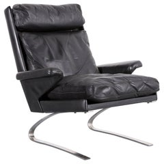 COR Swing Leather Armchair Black One-Seat