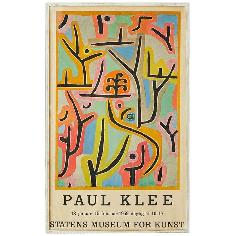 Vintage Paul Klee exhibition poster For Sale