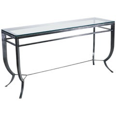 Pompeii Console Table with Standard Onset Glass Top by Powell & Bonnell