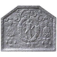 17th Century French Louis XIII 'Coat of Arms' Fireback