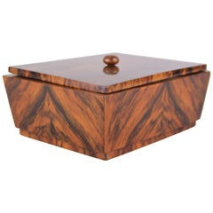 Art Deco Wooden Box Burr Walnut, Austria, circa 1925