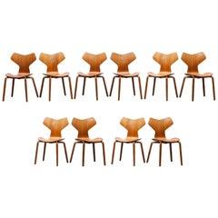 Arne Jacobsen Grand Prix Chairs, Set of Ten