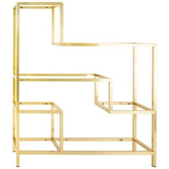Romeo Rega Brass Shelf or Etagere