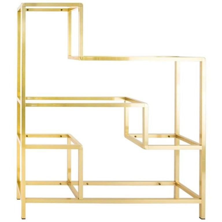 Romeo Rega Brass Shelf or Etagere