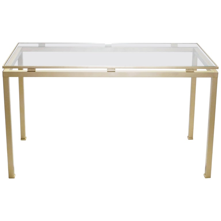 Brass Desk by Guy Lefevre for Maison Jansen, 1970s