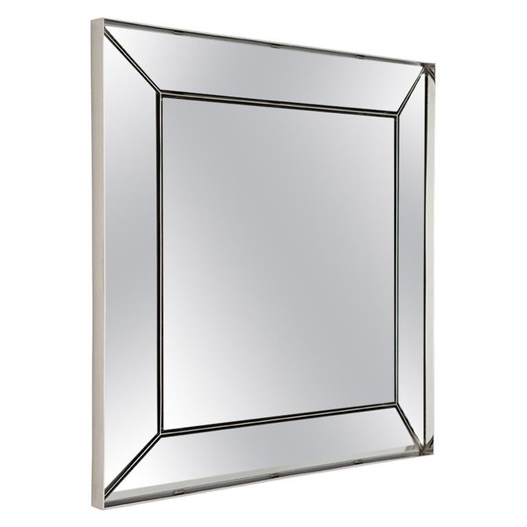 Ricochet Mirror In Polished Nickel By Powell Bonnell For
