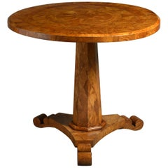 19th Century Patchwork Marquetry Centre or Occasional Table
