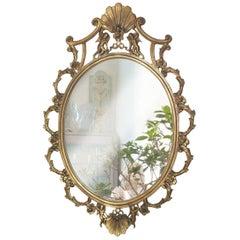 Early 20th Art Nouveau Venetian Gilt Bronze Mirror Vincenzo Cadorin Attributed