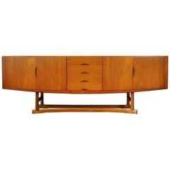 Danish Vintage Midcentury HB20 Teak Sideboard or Credenza by Johannes Andersen