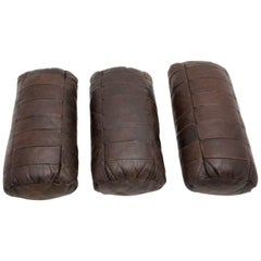 Brown Leather Pillows by De Sede, Switzerland, 1970s