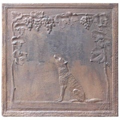 19th Century French 'The Fox and the Grape' Fireback