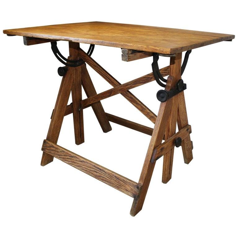 American Vintage Adjustable Drafting Table by Keuffel & Esser Co.