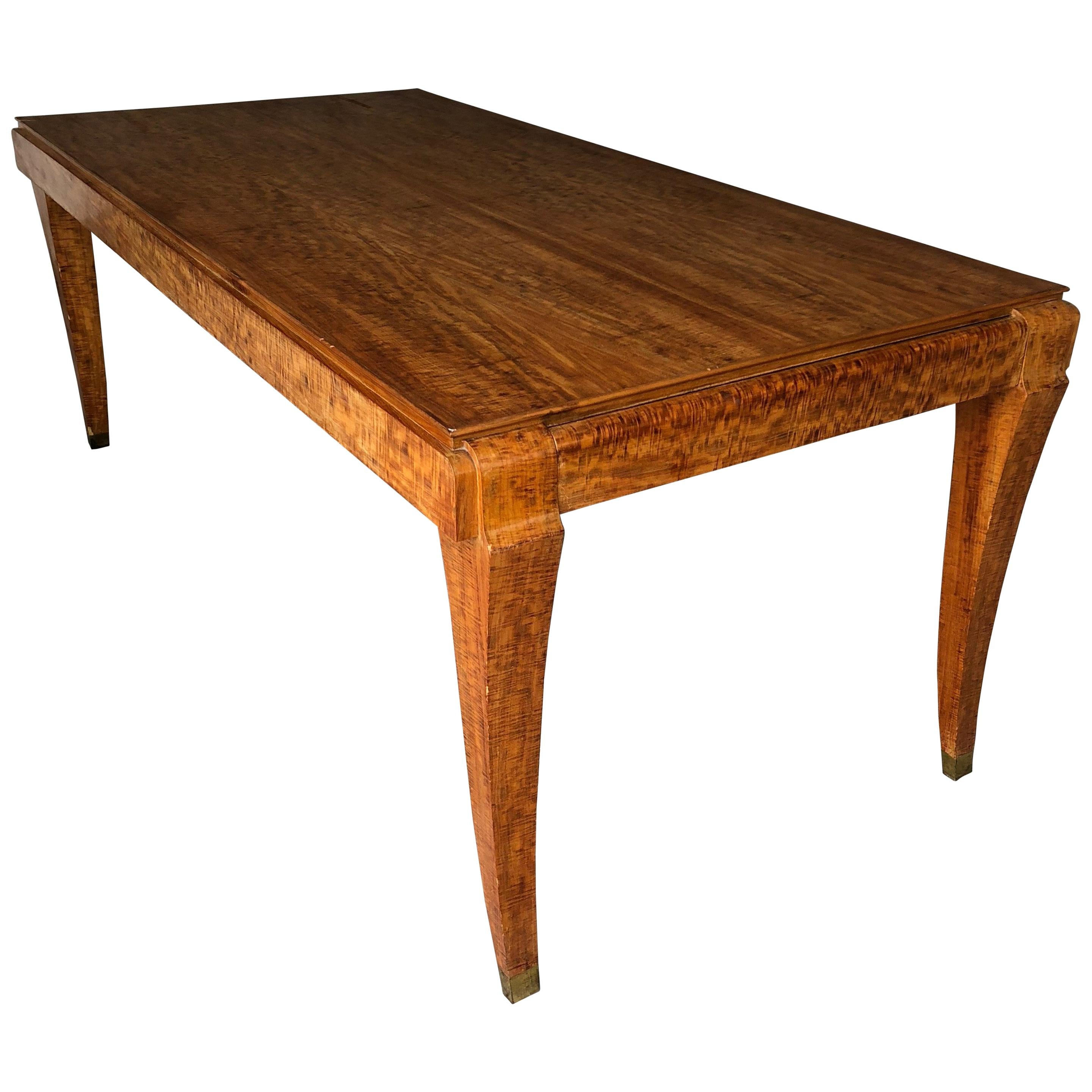 Exclusive French Dining Art Deco Eucalyptus Table For Sale