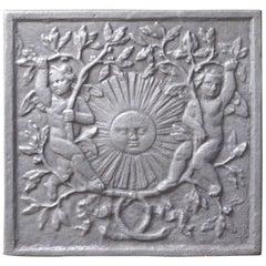 French Louis XIV Style 'The Sun' Fireback
