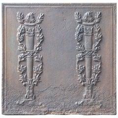 18th-19th Century French 'Pillars of Freedom' Fireback