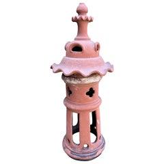 Medium French Terracotta Garden Lantern