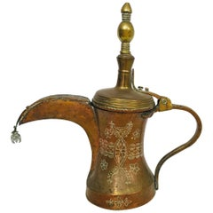 19th Century Middle Eastern Dallah Arabic Copper Coffee Pot