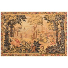 Antique Hand-Loomed French Tapestry, circa 1890