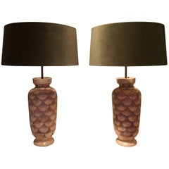 Pair Of French Art Deco Table Lamps Ceramic