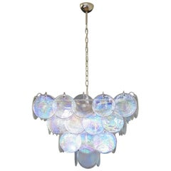 High Quality Murano Chandelier Space Age, Iridescent Glasses