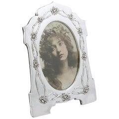 1907 Antique Edwardian Sterling Silver Photograph Frame