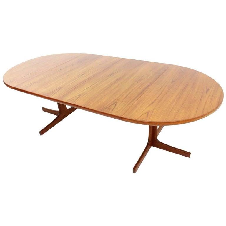 Teak Extension Dining Table By Erik Christensen At Stdibs - Outdoor teak extension dining table