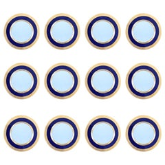 12 Cobalt Blue Dinner Plates