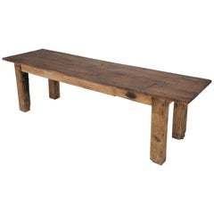 Antique Country French Farm Table or Industrial Table, circa 1900
