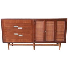 Merton Gershun for American of Martinsville Walnut Dresser or Credenza