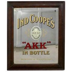 Advertising Mirror, Pub Mirror for Ind Coope AKK