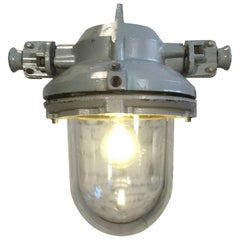 Grey Aluminium Explosion Proof Lamp, 1960s