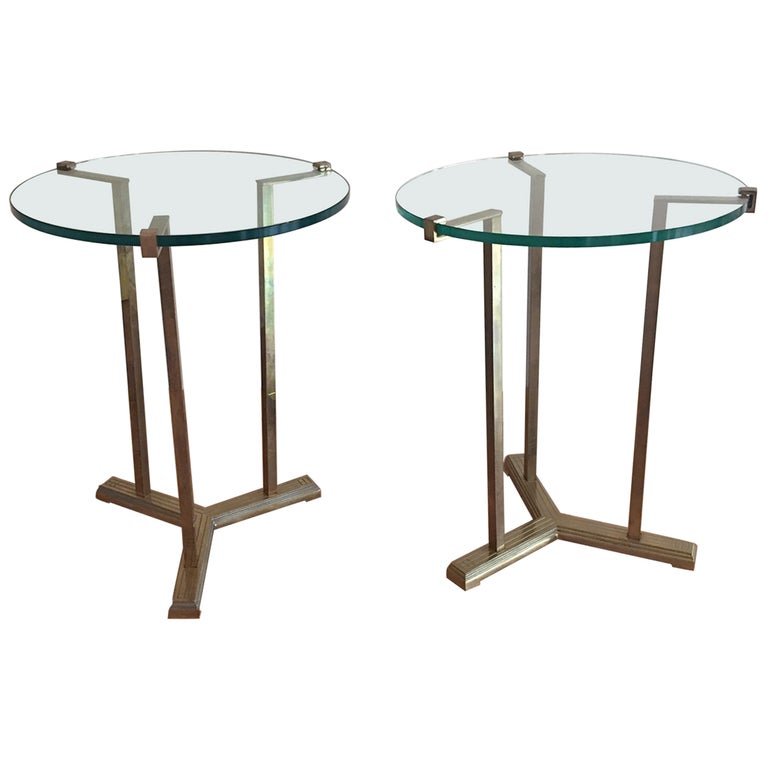 Pair of French Vintage Gueridon, 1970s