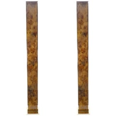 Pair of Brass Floor Lamps, 1970s