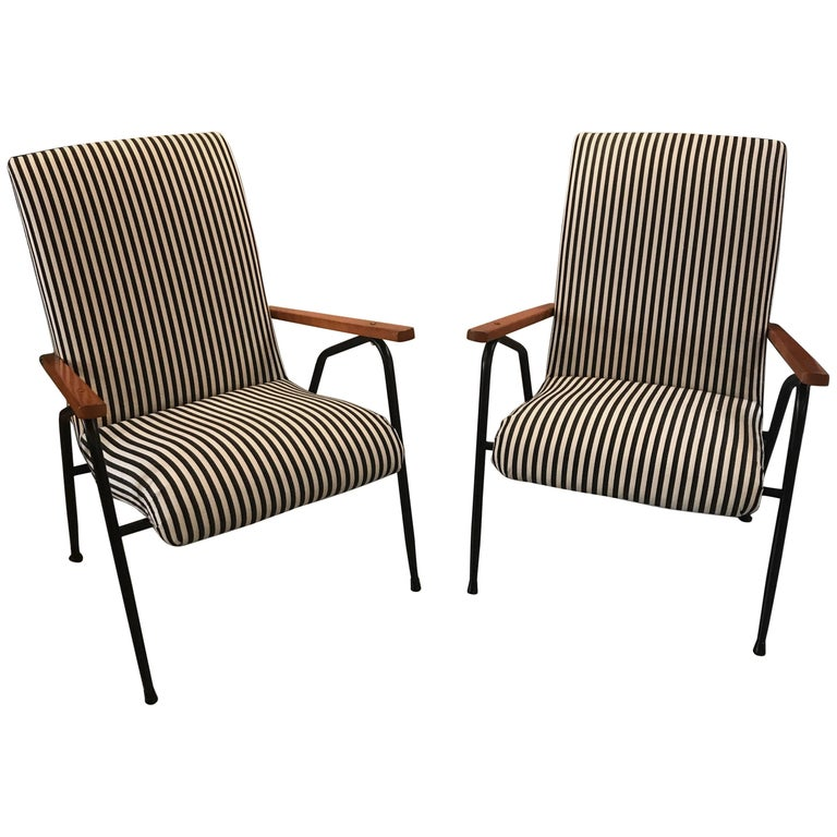 Pair of 1950s Italian Sunroom Lounge Chairs